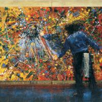 Sacrilège en guise d'hommage 1, huile sur toile, 152 x 214cm, 2002