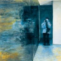 L'ambiguïté d'un égocentrique 1, huile sur toile, 60 x 60cm, 2001