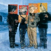 La meute, huile sur toile, 152,5 x 229cm, 2001
