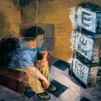 Le problème du texte, huile sur toile, 122 x 183cm, 2001