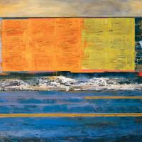 Propagande chromatique, huile sur toile, 83 x 152cm, 2001