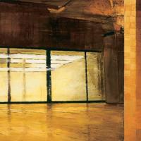 Seul, sourd, huile sur toile, 61 x 168cm, 2001