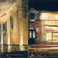 À louer, idéal pour artistes, huile sur toile, 91 x 183cm, 2000