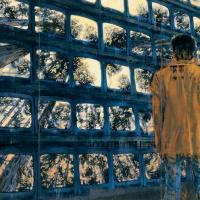 Filtrer sa contemplation, huile sur toile, 152 x 274cm, 2000
