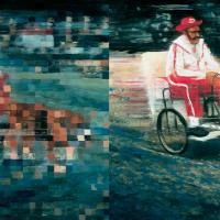 La parade des élus, huile sur toile, 91 x 183cm, 2000