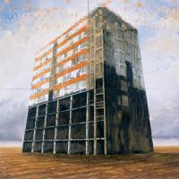 Le retour à la terre, huile sur toile, 210 x 210cm, 2000