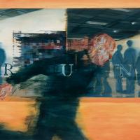 RUN, huile sur toile, 122 x 198cm, 2000