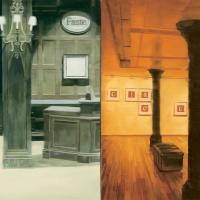 Faste et vide, huile sur toile, 105 x 210cm, 1999