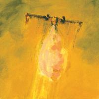 Séquence rose, huile sur toile, 182 x 26cm, 2000