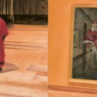 Préservons nos icônes, huile sur toile, 75 x 150cm, 1998