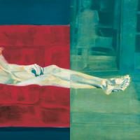 L'Olympia en cavale, huile sur toile, 152 x 304cm, 1997