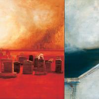Le plancher des vaches 1, huile sur toile, 91 x 214cm, 1996
