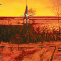 Attaque chirurgicale 1, huile sur toile, 33,5 x 45,5cm, 2006