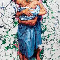 Le repos des guerriers, acrylique et huile sur toile, 183 x 122cm, 2005