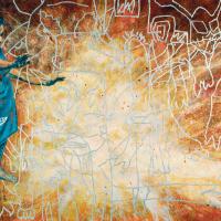 Messieurs, du calme!, acrylique et huile sur toile, 153 x 244cm, 2005