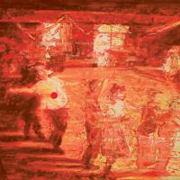 Sa dernière soirée canadienne, huile sur toile, 41 x 51cm, 2006