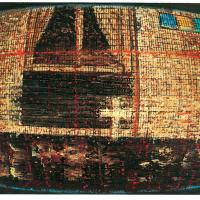 Random 4, huile sur toile, 35,5 x 46cm, 2002