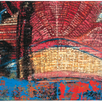 Random 7, huile sur toile, 35,5 x 46cm, 2002