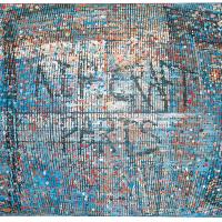 Random 8, huile sur toile, 35,5 x 46cm, 2002