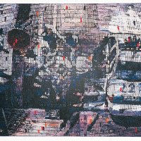 Random 9, huile sur toile, 35,5 x 46cm, 2002