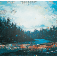 Random 12, huile sur toile, 35,5 x 46cm, 2002